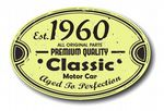 Distressed Aged Established 1960 Aged To Perfection Oval Design For Classic Car External Vinyl Car Sticker 120x80mm